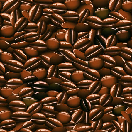 arabica: Coffee Beans Seamless Pattern Tile Illustration