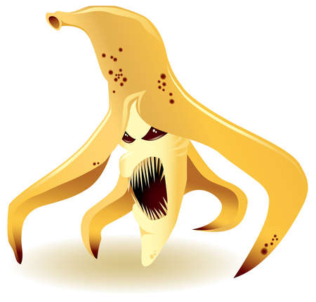 Illustration of enraged genetically modified banana