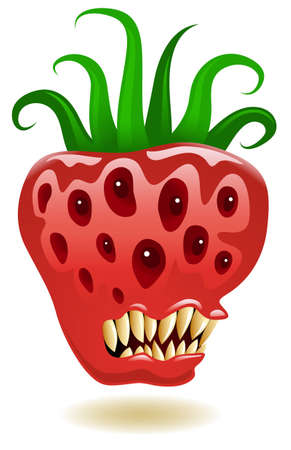Illustration of a genetically modified strawberry