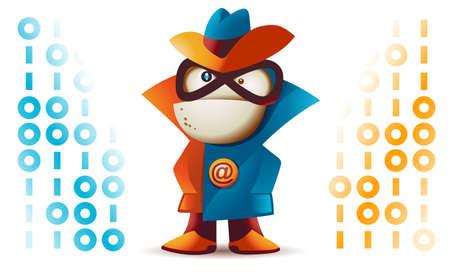 unlawful: Programa de seguimiento de spyware malicioso y robo de informaci�n personal Vectores