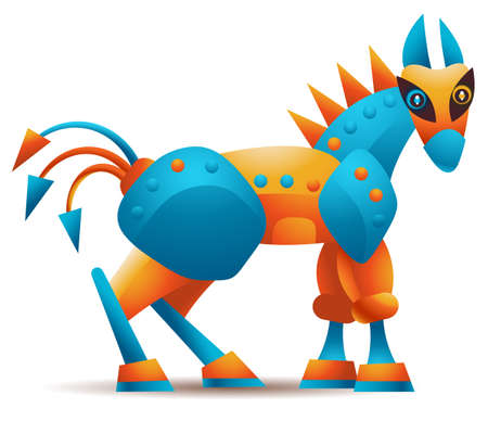 cavallo di troia: Computer di malware Trojan horse o di qualsiasi altro concetto di cavallo di Troia