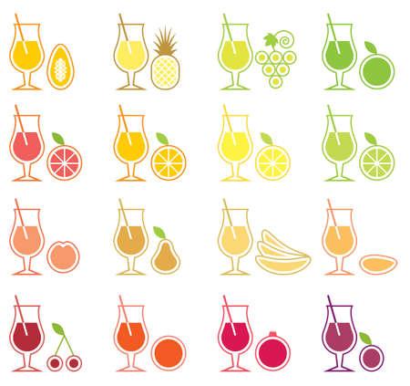 Fruit Juice Icon Set