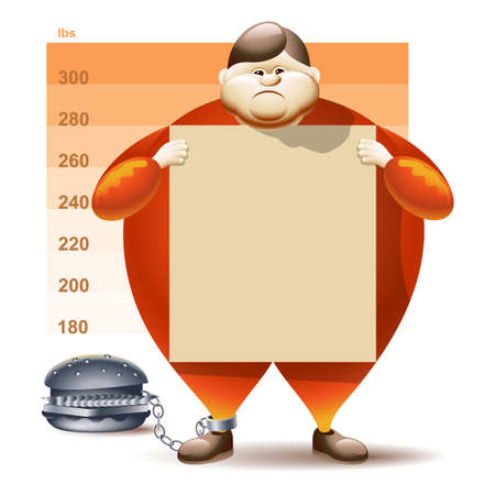 Condamné à l'obésité Banque d'images - 14453465