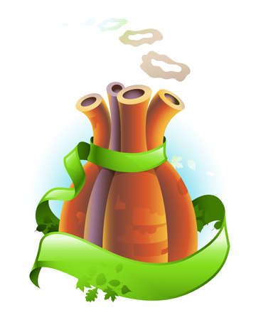 Concept of air pollution prevention Stock Vector - 14850903
