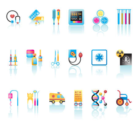 Collection of medical icons Stock Vector - 19906197