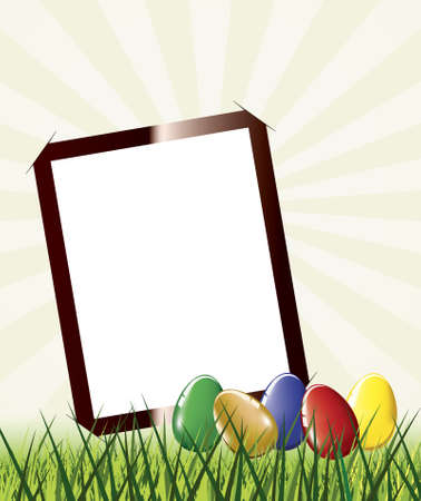 Easter photo frame Vector