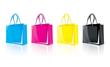 Shopping Bags 2 Stock Vector - 18933088