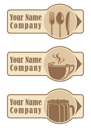 Food and Drink Label Vector