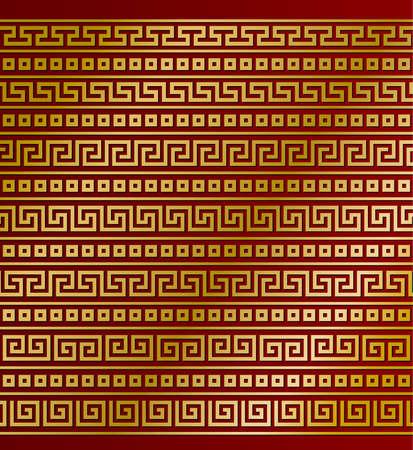friso: ornamentos griegos Vectores