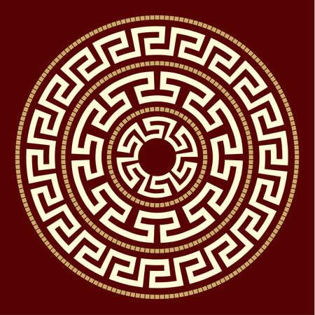 Greek ornaments ROUND Vector