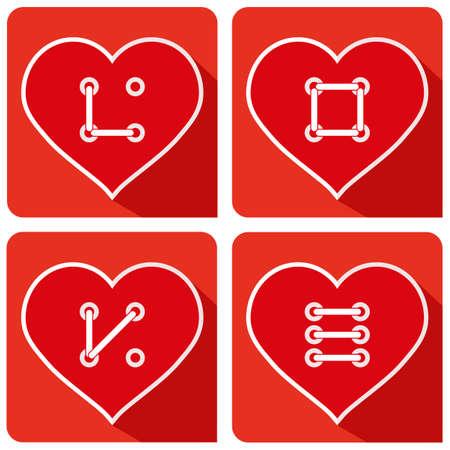 february 14th: Hearts Button sew LOVE