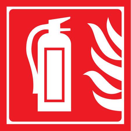 se�alizacion de seguridad: extintor de incendios