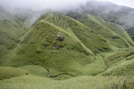Landscape from Dzukou Valley, Nagaland Stock Photo