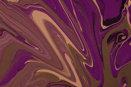 Violet an brown enamel abstract background.Makeup concept.Beautiful stains of liquid nail laquers.Fluid art, pour painting technique.Good as digital decor, copy space.Horizontal photography.
