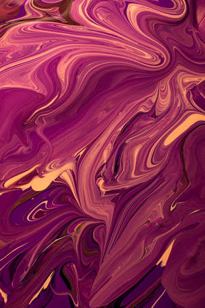 Abstract violet colors background.Make up concept.Beautiful stains of liquid nail laquers.Fluid art, pour painting technique.Good as digital decor for phone, copy space.Horizontal photography. 版權商用圖片