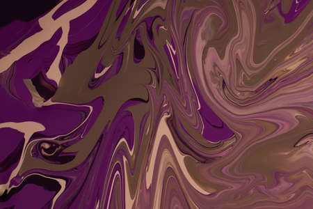 Violet an brown enamel abstract background.Makeup concept.Beautiful stains of liquid nail laquers.Fluid art,pour painting technique.Good as digital decor,copy space.Horizontal photography.