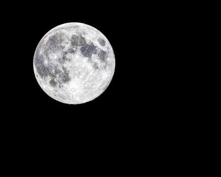 moon crater: Full Moon Stock Photo