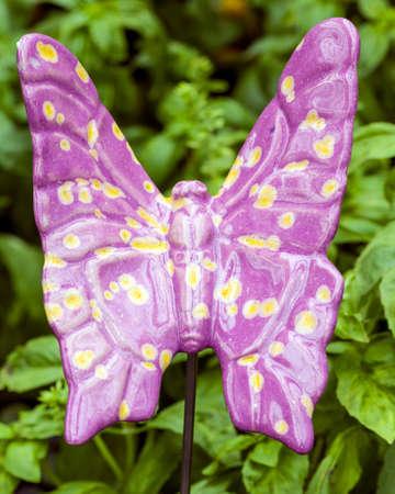 Purple Ceramic Butterfly