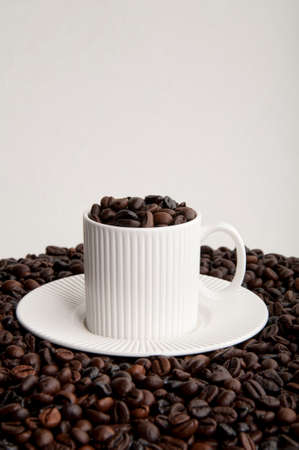 decaffeinated: Coffee cup with grain coffee