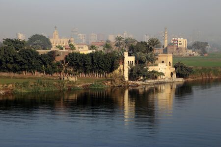 nile river: Nile river at sunrise in Cairo, Egypt