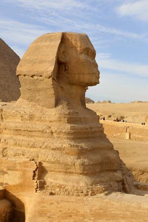 esfinge: El perfil de la Gran Esfinge, Giza, Egipto
