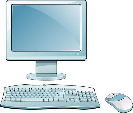 Moniteur LCD avec clavier et souris