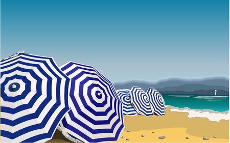 Parapluie dans la plage