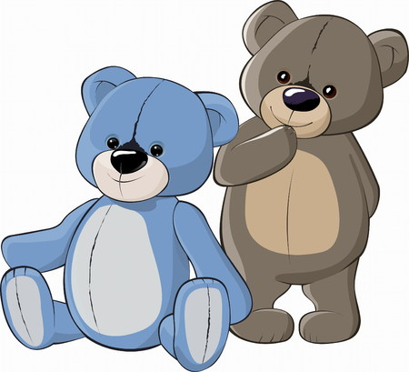 dibujos lineales: Teddy Bears