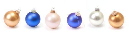 흰색 배경에 크리스마스 공