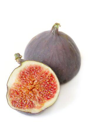 purgative:  Figs on white background