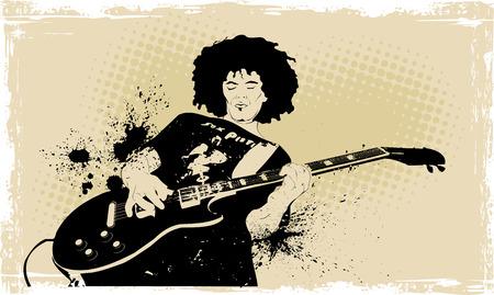 Guitariste Illustration