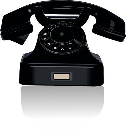 블랙 레트로 전화