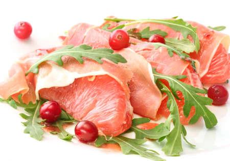 Collation de bacon et de pamplemousse Banque d'images