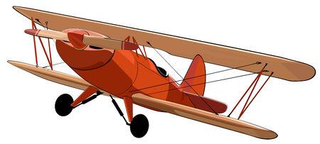 Biplan Illustration