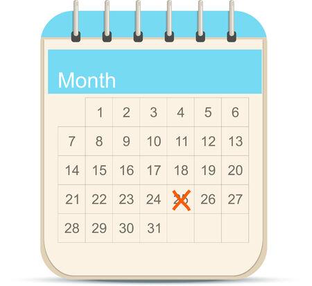 Ic�ne calendrier Illustration