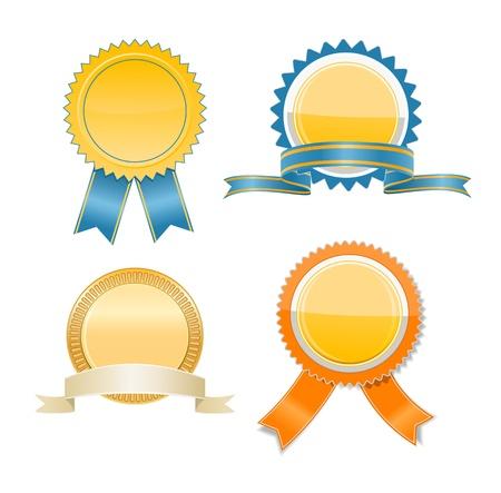 ribbon award: Gold  badges