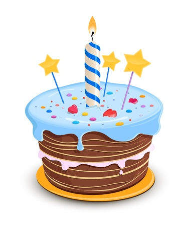 Birthday cake  Stock Vector - 15835504