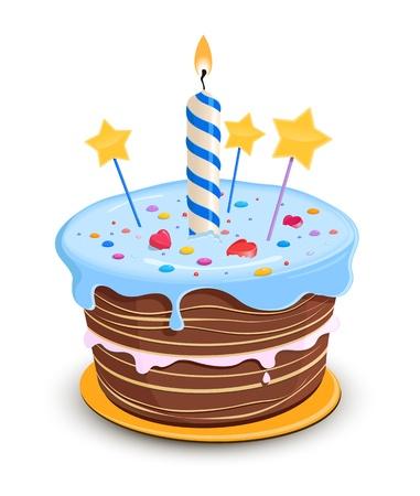 torta: Torta de cumpleaños Vectores