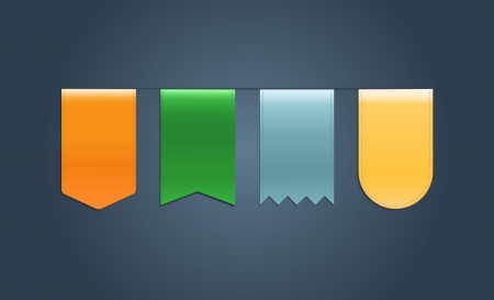 Set of Web Ribbons Vector