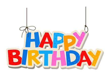 happiness: Happy birthday card  Illustration