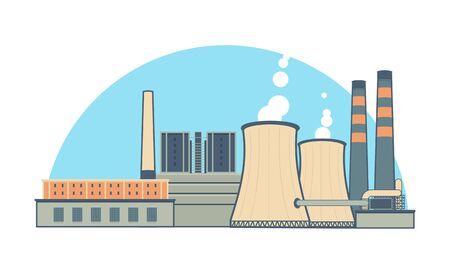 Industrial Power Plant Illustration