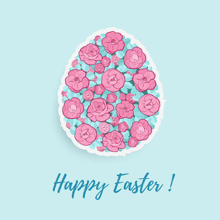 Easter Egg With Floral Ornament