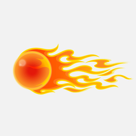 Vector illustration of abstract fireball on white background