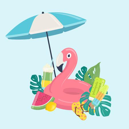 Summer beach vacations template