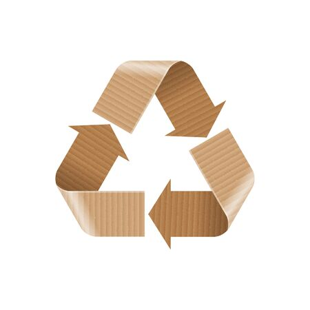 Recycle Paper and Cardboard Sign Illustration