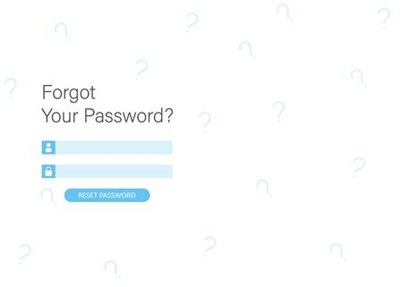 Landing page illustration design people forgot her password. This design can be used for websites, landing pages, UI, mobile applications, posters, banners.