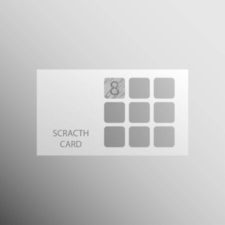 Scratch card mockup template, vector for web, print.