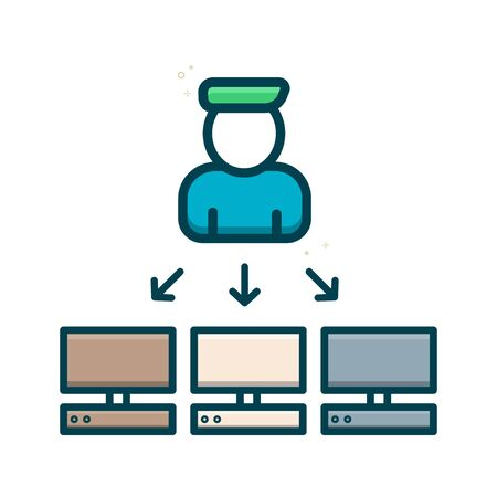 Remote Computer Management Icon, sever