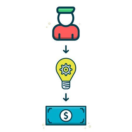 Idea to make money icon