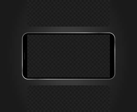 Realistic phone template with blank space for inserting.